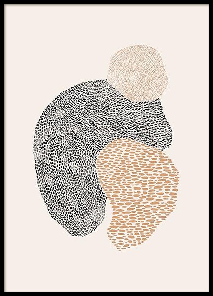 Dot Abstract No1 Poster