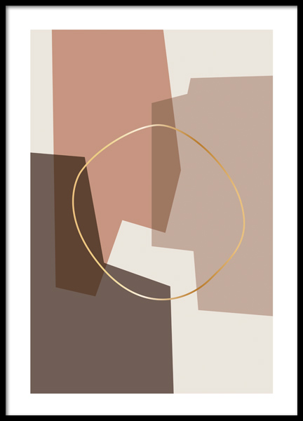 Abstract Composition Poster in der Gruppe Poster / Kunstdrucke bei Desenio AB (12516)