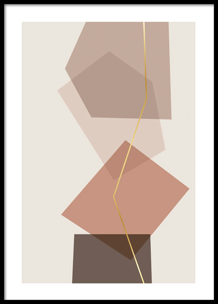 Abstract Boxes Poster