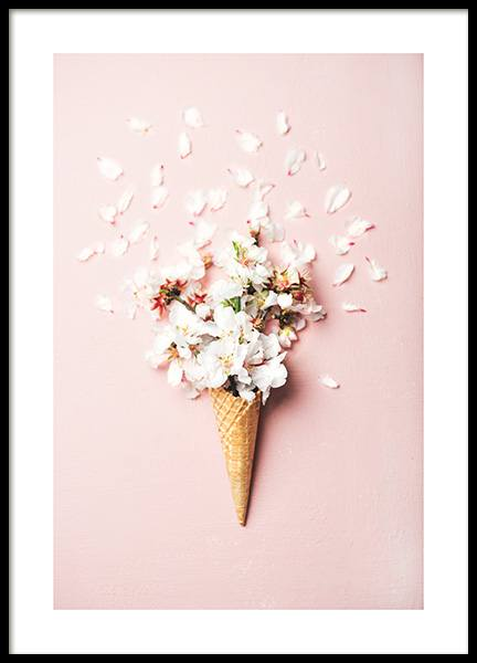 Flower Cone Pink Poster