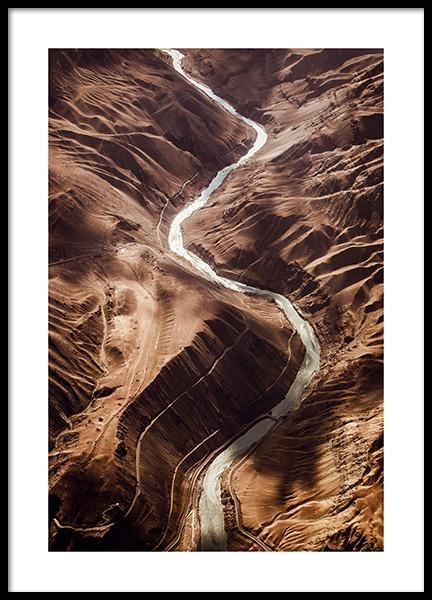 Himalayan Canyon Poster