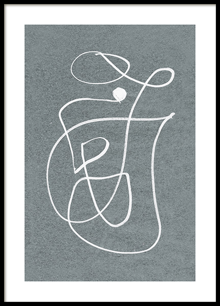Fine Curvy Lines Poster