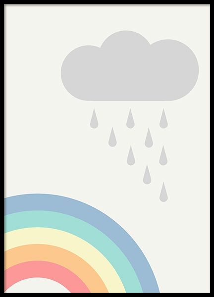 Rainbows and Clouds Poster in der Gruppe Poster / Kinder bei Desenio AB (12687)