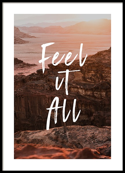 Feel It All Poster in der Gruppe Poster / Typografie Poster bei Desenio AB (12788)