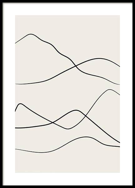 Desert Lines No2 Poster