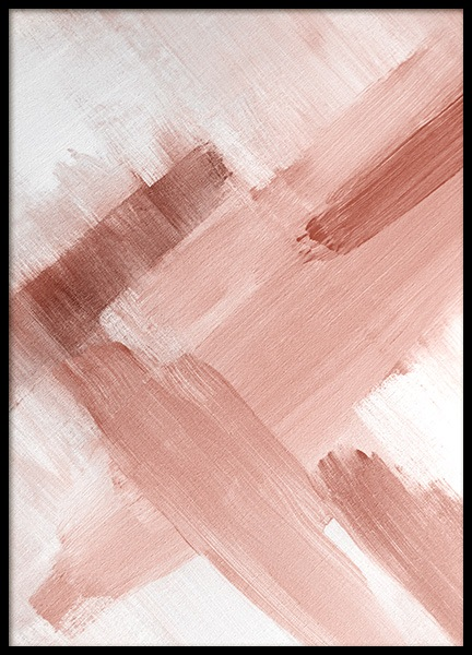Abstract Painting Pink No2 Poster in der Gruppe Poster / Kunstdrucke bei Desenio AB (12895)