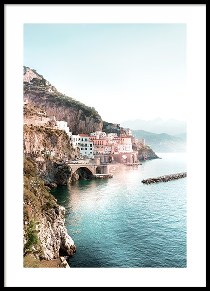 Amalfi View Poster