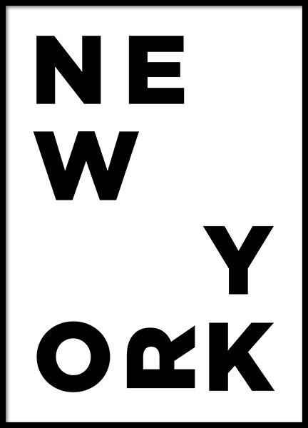 New York Typo Poster