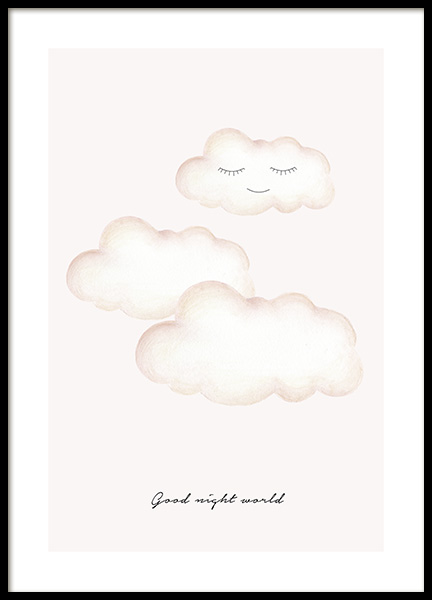 Good Night World Poster in der Gruppe Poster / Kinder bei Desenio AB (13074)