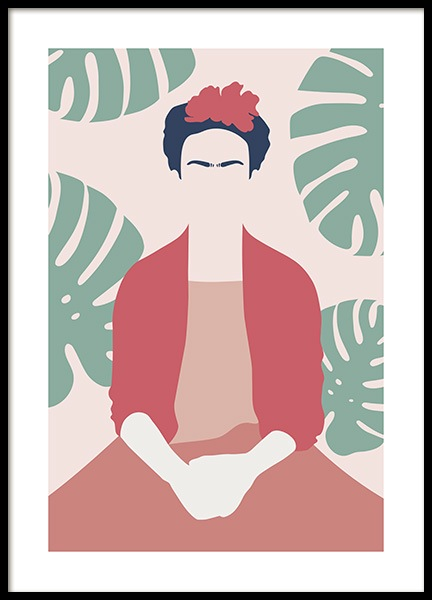 Frida Kahlo Abstract Poster