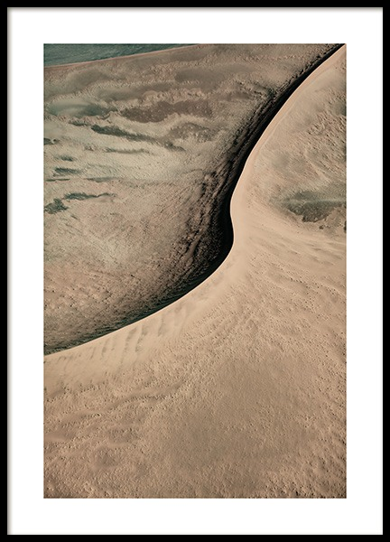 Abstract Sand Dune Poster