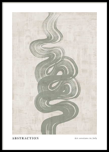 Green Abstraction No4 Poster