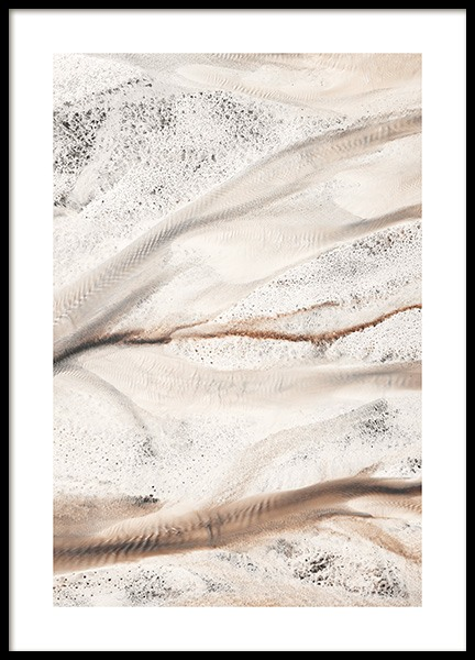 River Bed Aerial View Poster