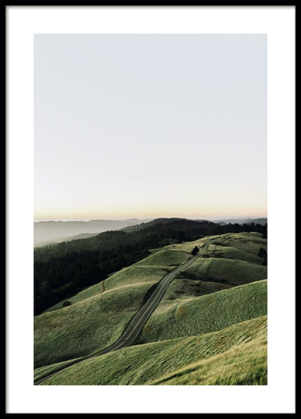 Hilly Road Poster in der Gruppe Poster / Naturmotive bei Desenio AB (13240)