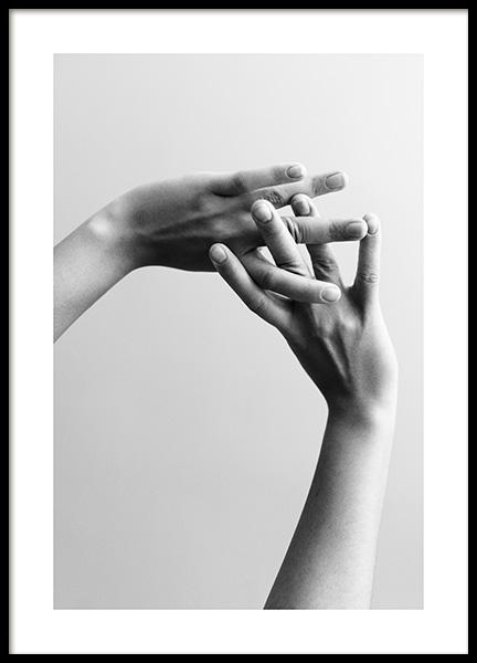 Entangled Fingers No2 Poster