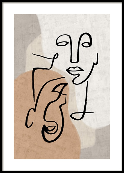 Abstract Line Art No3 Poster in der Gruppe Poster / Kunstdrucke bei Desenio AB (13280)
