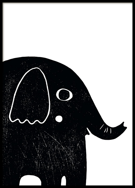 Graphic Elephant Poster in der Gruppe Poster / Kinder bei Desenio AB (13313)