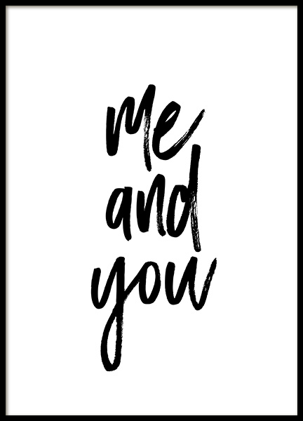 Me and You No1 Poster in der Gruppe Poster / Typografie Poster bei Desenio AB (13334)