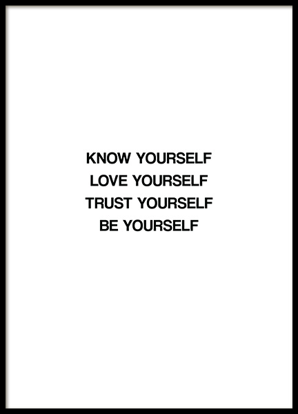 Know Yourself Poster in der Gruppe  bei Desenio AB (13463)