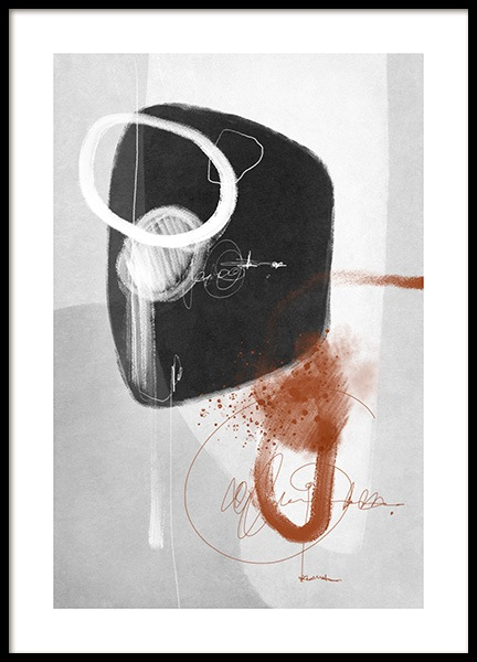 Amber Infused Abstract No1 Poster