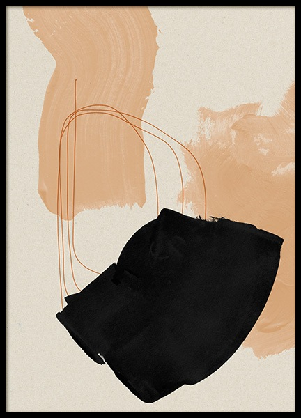 Blush Strokes No2 Poster