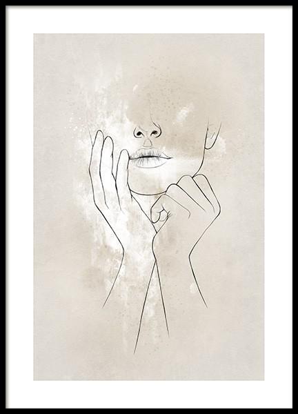 Female Shape No2 Poster