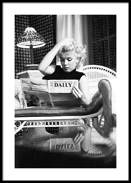 Marilyn Monroe Reading Poster