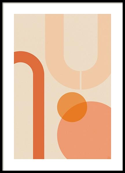 Orange Shapes Poster