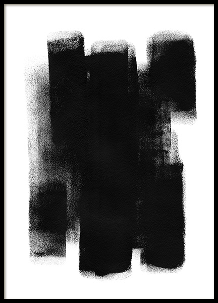 Paint it Black No1 Poster in der Gruppe Poster / Kunstdrucke / Abstrakte Kunst bei Desenio AB (13815)