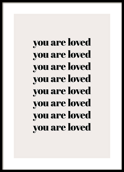 You Are Loved Repeat Poster in der Gruppe Poster / Typografie Poster bei Desenio AB (13825)