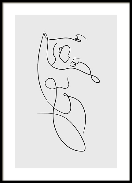 Abstract Femme Lines No2 Poster in der Gruppe  bei Desenio AB (13854)