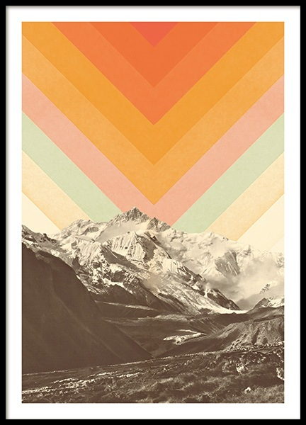 Mountainscape No1 Poster in der Gruppe Poster / Vintage bei Desenio AB (13922)