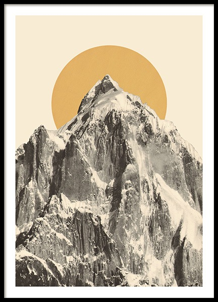 Mountainscape No2 Poster in der Gruppe Poster / Vintage bei Desenio AB (13923)