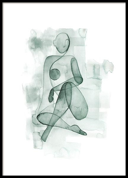 Watercolor Figure No1 Poster