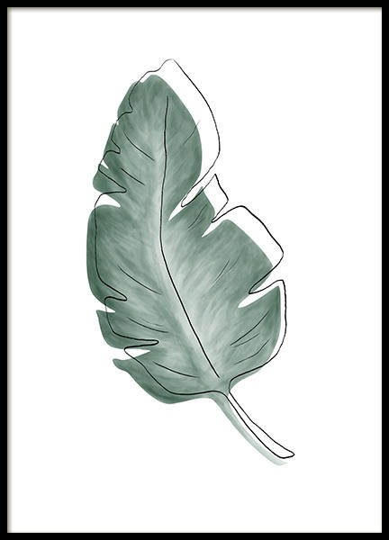 Watercolor Leaves No1 Poster in der Gruppe Poster / Botanik / Pflanzen bei Desenio AB (13989)