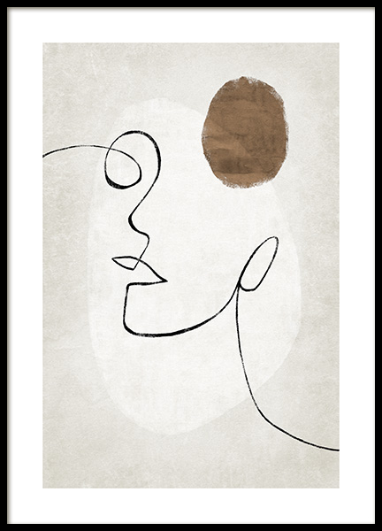 Abstract Lines and Shapes No1 Poster