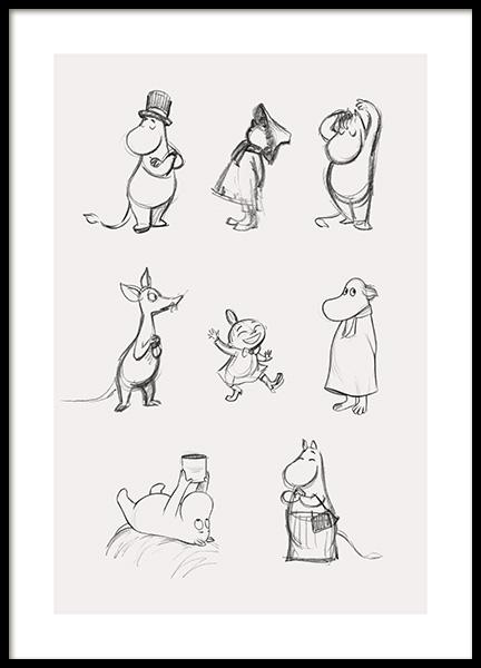 Moomin Characters No1 Poster