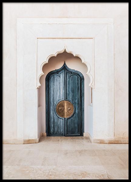Marrakech Blue Door Poster