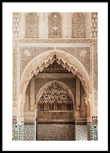 Temple of Marrakech No1 Poster