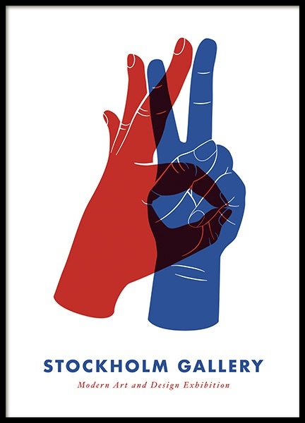 Stockholm Gallery Hands No1 Poster