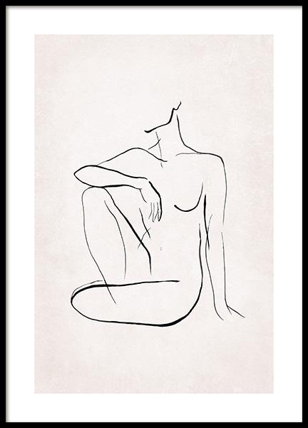 Female Sketch No2 Poster