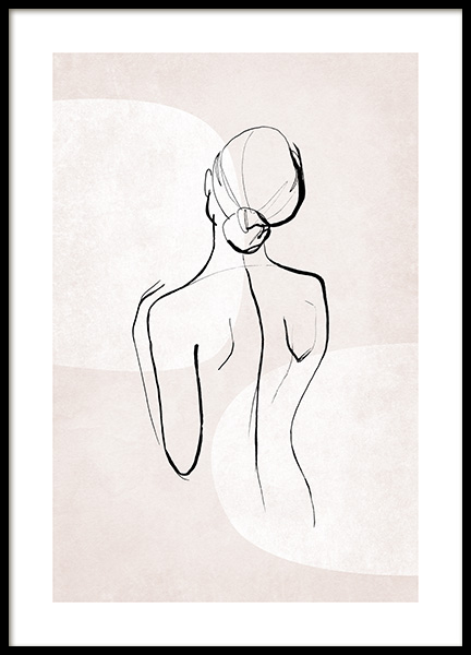 Female Sketch Forms No1 Poster