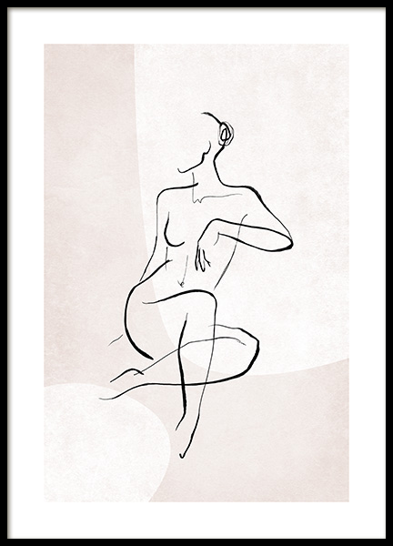 Female Sketch Forms No2 Poster
