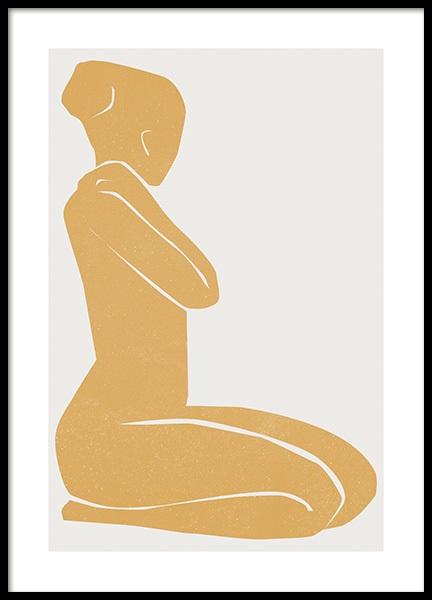 Cadmium Yellow Figure Poster