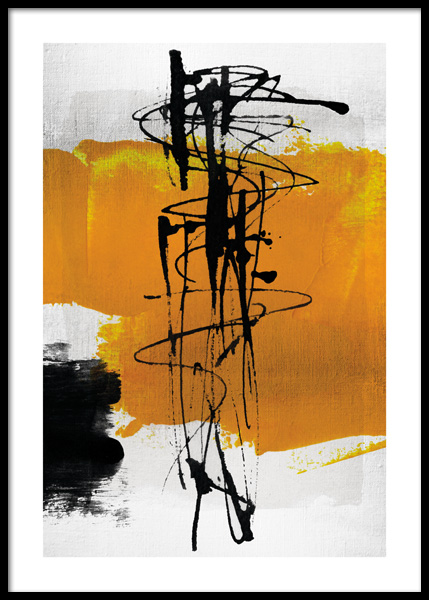 Yellow Abstract No1 Poster in der Gruppe Poster / Kunstdrucke / Abstrakte Kunst bei Desenio AB (14801)