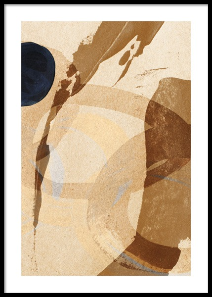 Umber Abstraction No2 Poster