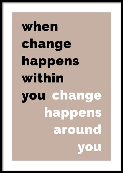 When Change Happens Poster