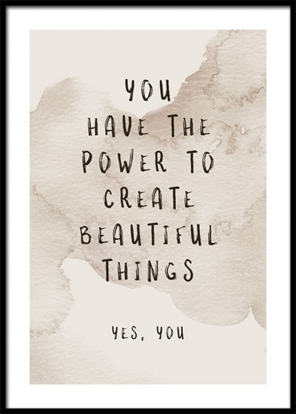 Create Beautiful Things Poster