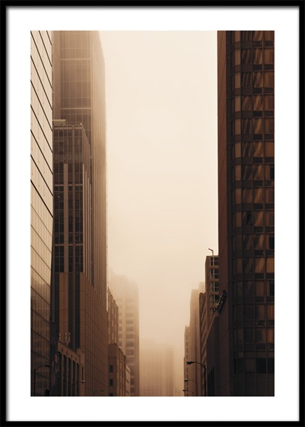 Brown Skyscrapers Poster