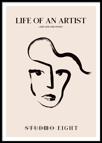 Life Of An Artist Poster